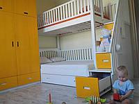 Двухярусная кровать Твин, массив дуб, ясень