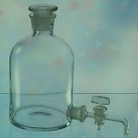 Бутыль Вульфа 10000 мл стеклянный лабораторный с пришлифованной пробкой
