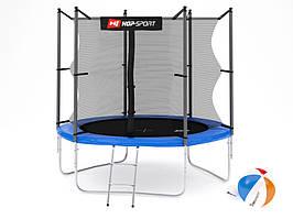 Батут Hop-Sport 8ft (244cm) синий с внутренней сеткой
