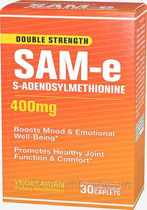 Puritan's Pride SAM-e 400 mg 30 Caplets, фото 2