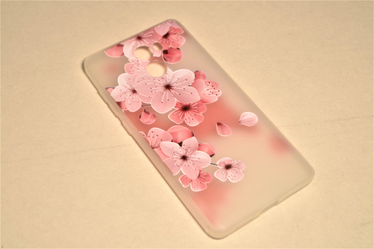 TPU чехол матовый soft touch для Xiaomi Redmi 4 Сакура