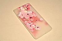 TPU чехол матовый soft touch для Xiaomi Redmi 4 Сакура, фото 1