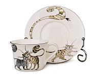 Чайный набор Lefard Веселые коты на 12 предметов 264-296
