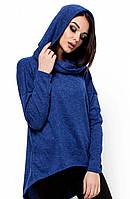 Молодіжна синя кофта з капюшоном (S-M, M-L)
