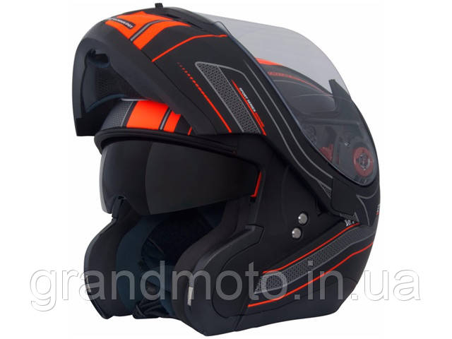 Мотошлем MT Helmets Optimus SV Raceline Matt-black-orange
