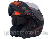 Мотошолом MT Helmets Optimus SV Raceline Matt black-orange