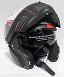 Мотошлем MT Helmets Optimus SV Raceline Matt-black-orange, фото 2