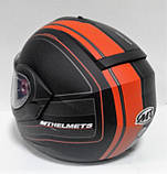 Мотошлем MT Helmets Optimus SV Raceline Matt-black-orange, фото 3