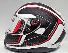 Мотошолом MT Helmets Optimus SV Matt White-black-red