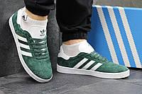 Мужские кроссовки Adidas Gazelle  адидас кроссовки зеленые - Замша, подошва: резина р: 41-46 Вьетнам