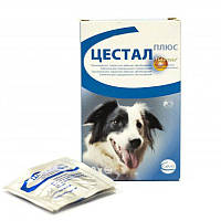 ЦЕСТАЛ ПЛЮС таблетки от глистов со вкусом печени для собак