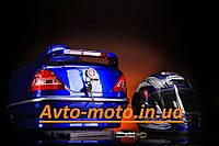 Кофр багажник Мерседес с шлемом синий