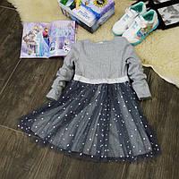 Детское нарядное серое платье PD0070-110p, фото 1