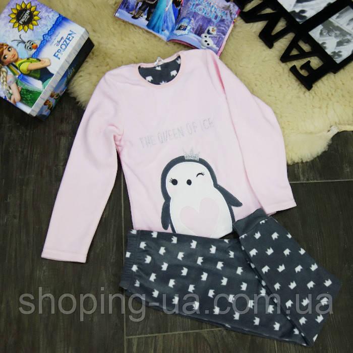 Теплая пижама пингвин KD0083-122-128p