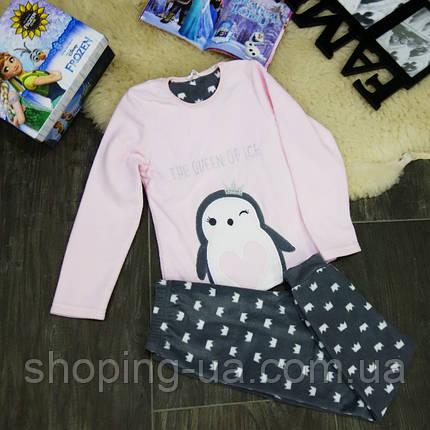 Теплая пижама пингвин KD0083-122-128p, фото 2