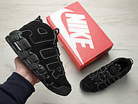 Кроссовки Nike Air More Uptempo Triple Black. Топ качество! Живое фото (Реплика ААА+), фото 1