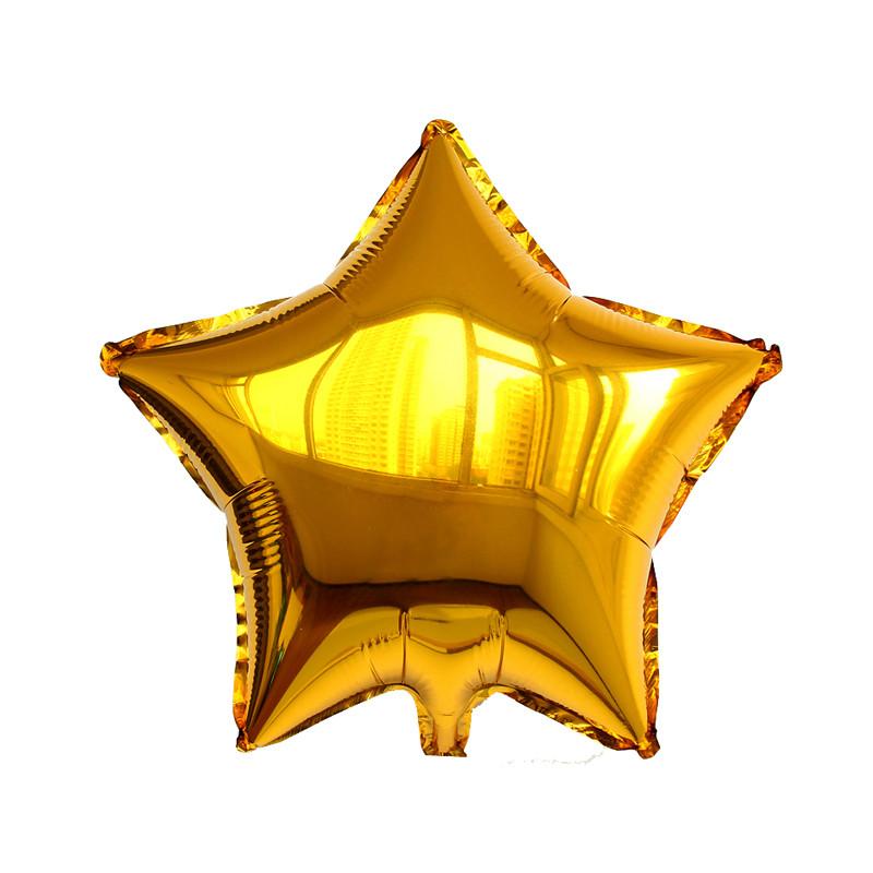Фольговані кульки, форма:зірка, колір: золото, 16 дюймів/43 см, 1 штука