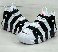 "Кроссовки Nike Air More Uptempo ""White black"". Живое фото"