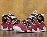 "Кросівки Nike Air More Uptempo ""red"". Живе фото (Репліка ААА+)"