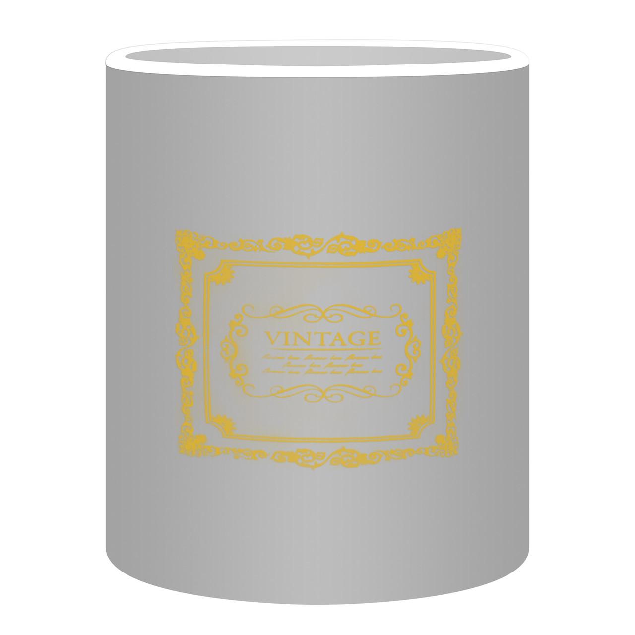 Коробка для цветов без крышки 15 х 14см серебро