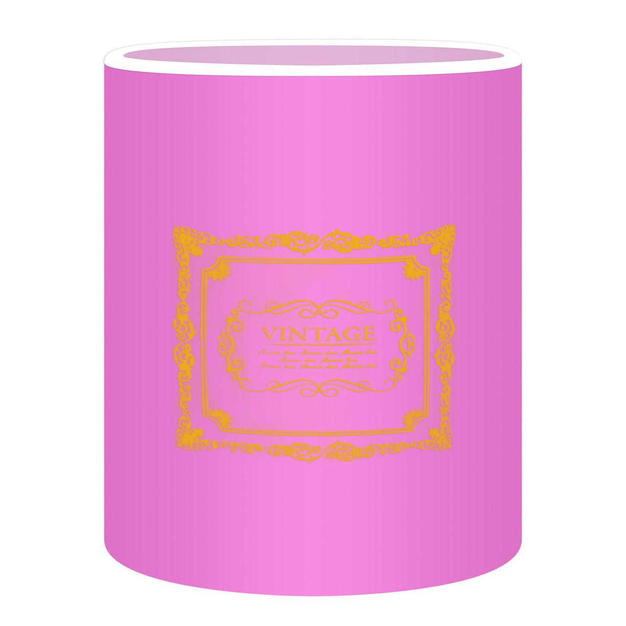 Коробка для цветов без крышки 15 х 14см сиреневая