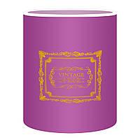 Коробка для цветов без крышки 15 х 14см фиолетовая