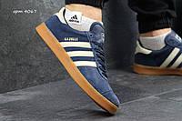Мужские кроссовки Adidas Gazelle  адидас кроссовки синие - Замша, подошва: резина р: 41-46 Индонезия