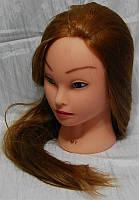 Учебная голова-манекен с искусственным термостойким волосам G-65-MT27R YRE