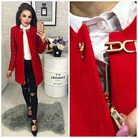 Пальто кашемировое, модель 799, цвет - красный, фото 1