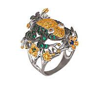 Кольцо серебро Лягушка (Жаба)