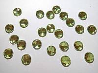 Страз 0,8 см акрил зеленый