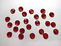 Страз 0,8 см акрил красный