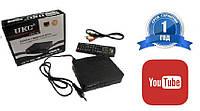 Цифровой Тюнер DVB-T2 UKC 7810 ЕСТЬ YouTube с возможностью подключить Wi-Fi