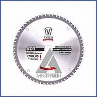 Пильный диск по дереву,ламинату VATZO 254x30x60z c ограничителем, фото 1