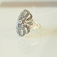 """Перстень серебряный """"Каменный цветок"""""""
