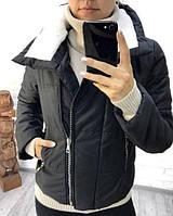 Куртка женская короткая аляска на синтепоне на подкладке P8176