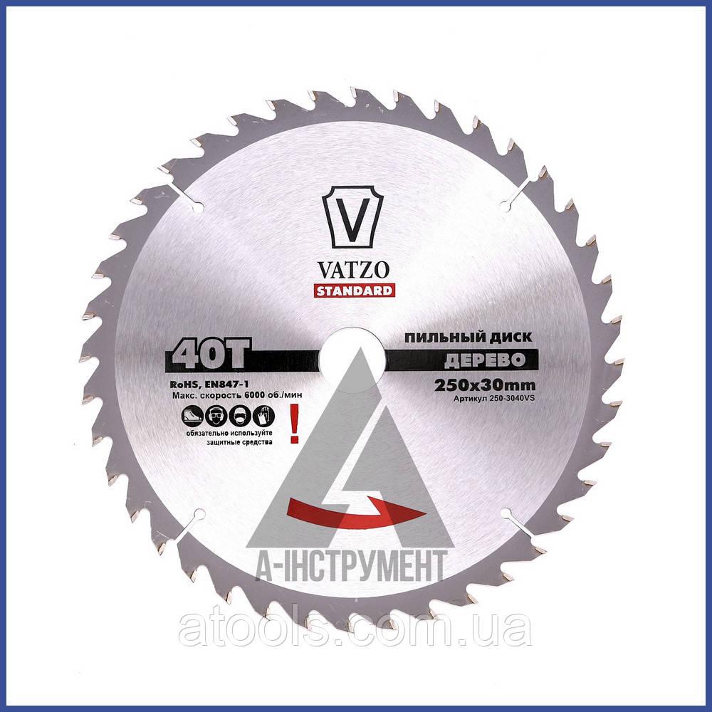 Пильный диск по дереву VATZO 254x30x40z