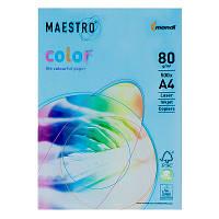 Бумага А4 Maestro Color АВ48 синий