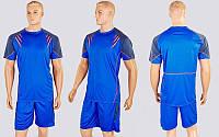 Футбольная форма Captain  (PL, р-р M-XXL, синий-черный, шорты синие), фото 1