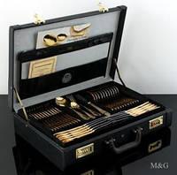 Столовый набор 70 предметов 999,9 золотом 24 карат, 12 персон ГЕРМАНИЯ