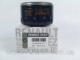 Renault Original 7700274177 - Масляный фильтр на Рено Логан 2, Дачиа Логан 2, Сандеро 2 1.6i 8V, 1.6i 16V
