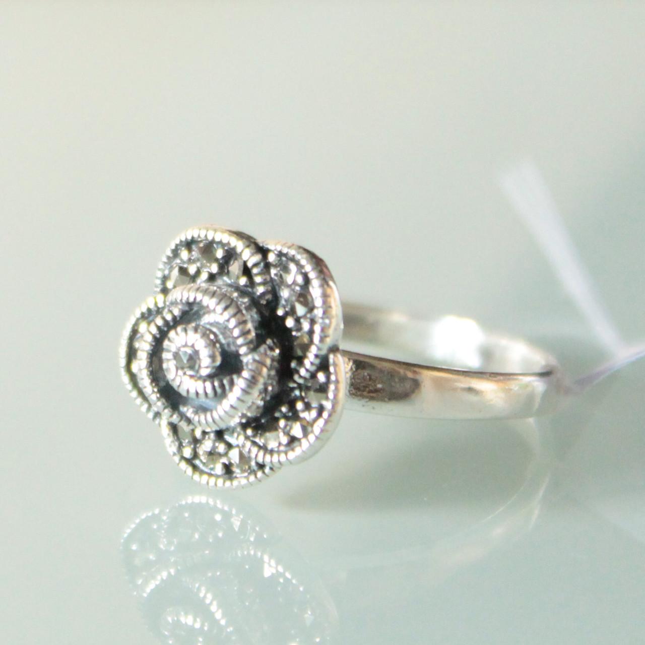 """Перстень серебряный """"Роза"""""""