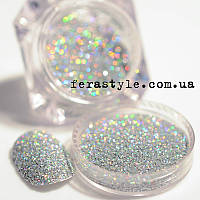 Зеркальный блеск для дизайна ногтей. Серебро. 101