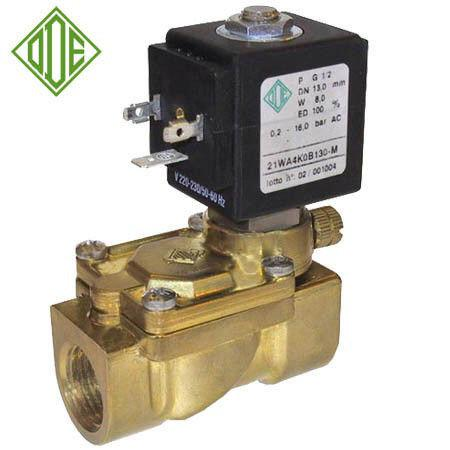 Соленоидный (электромагнитный) клапан для воды нормально открытый G1/2 (ODE, Italy)