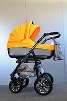 Детская универсальная коляска 2 в 1 Glory (Глори), Ajax Group, серый+желтый (98/17)