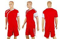 Футбольная форма  (р-р M-XXL, красный, шорты красные), фото 1