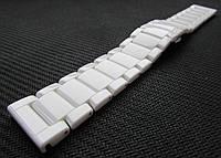 Браслет для часов керамический. Белый. 20-й размер., фото 1