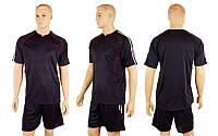 Футбольная форма Competition  (р-р M-XXL, черный, шорты черные), фото 1