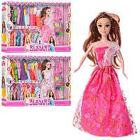 Кукла типа барби 29 см с нарядамииаксессуарами, платья 20 шт, обувь,34168A
