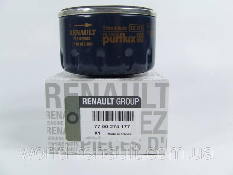 Renault Original 7700274177 - Масляный фильтр на Рено Меган 3, Рено Флюенс 1.6i 16V K4M